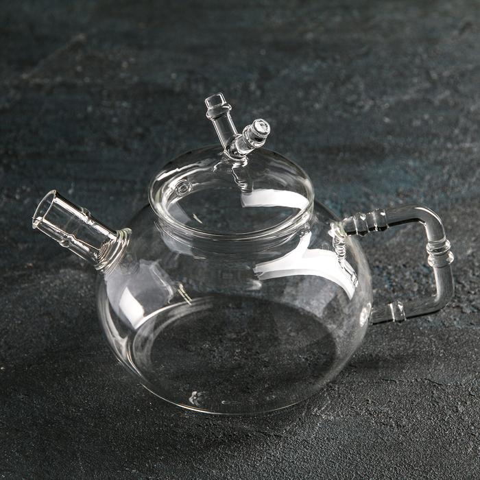 """Чайник заварочный 400 мл """"Бамбук"""", с металлическим ситом"""