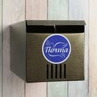 Ящик почтовый «Горизонталь», горизонтальный, без замка (с петлёй), квадратный, бронзовый