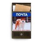 Ящик почтовый «Вертикаль», вертикальный, с замком, с фото МИКС, бронзовый