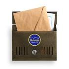 Ящик почтовый «Горизонталь», горизонтальный, с замком, бронзовый