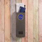Ящик почтовый «Вертикаль», вертикальный, без замка (с петлёй), узкий, серебристый