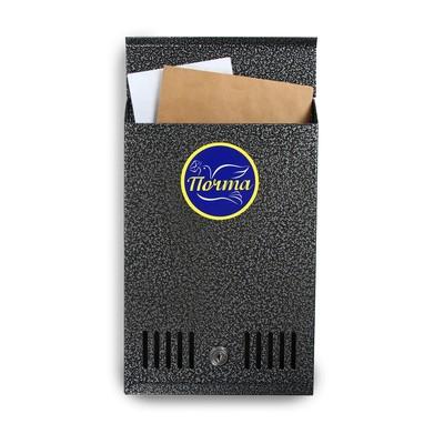 Ящик почтовый с замком, вертикальный, серебристый