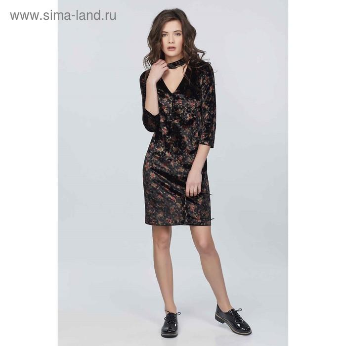 Платье женское, размер 40, цветочный принт