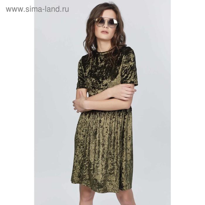 Платье женское, размер 42, цвет зелёный 759.1-15-01