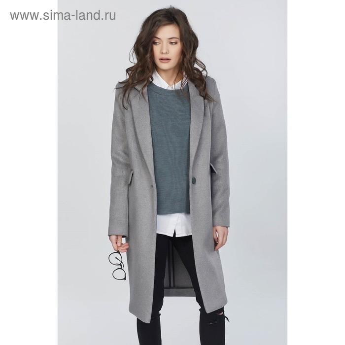 Пальто женское, размер 40, цвет серый