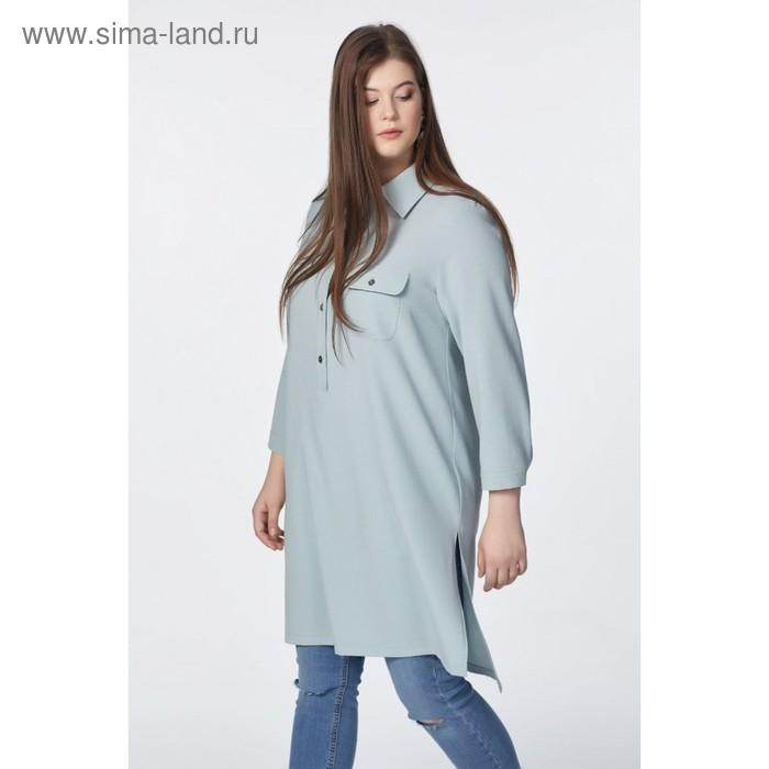 Туника женская, размер 52, цвет бледно-голубой  2-122-10