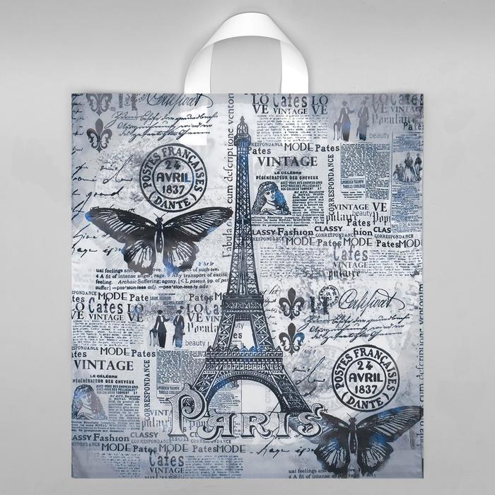 """Пакет """"Парижский день"""", полиэтиленовый с петлевой ручкой, 38 х 42 см, 40 мкм - фото 8443366"""