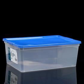 Коробка для хранения с крышкой, 10 л, 37×26×14 см, цвет МИКС