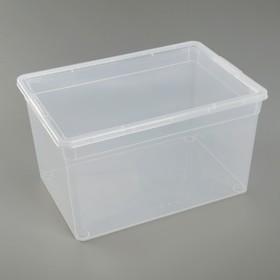 Коробка для хранения с крышкой, 16 л, 37×26×20,5 см, цвет прозрачный