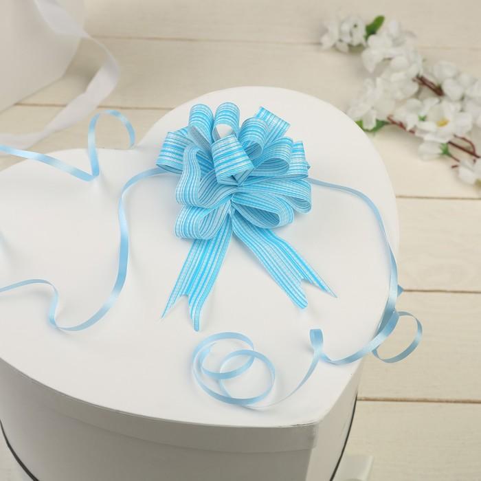 Бант-шар №1,8 тонкие полосы, голубой - фото 8443435