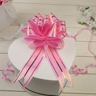 Бант-шар №4,5 три золотых полосы, ярко-розовый - фото 8443446