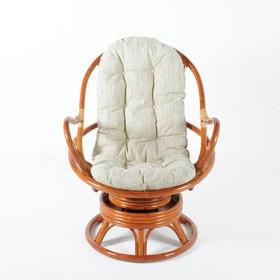 Кресло вращающееся, с подушкой, ротанг, цвет коньячный, 05/01
