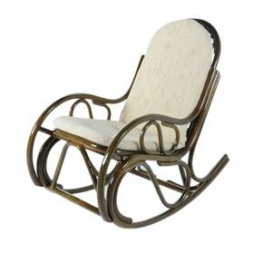 Кресло-качалка, с подушкой, ротанг, цвет оливковый, 05/04