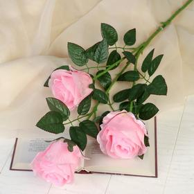 """Artificial flowers """"rose amore"""" three Bud 7*85 cm, pink"""