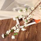 """Цветы искусственные """"Сакура нежность"""" 4*120 см, белый"""