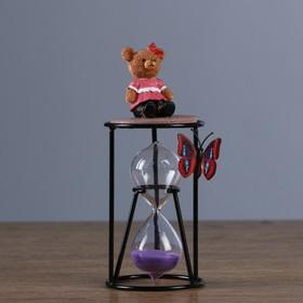 """Часы песочные """"Медведица"""", 8х19 см, микс"""