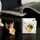 """Сувенир полистоун """"Ангел с золотыми крыльями и золотым сердцем"""" в пакетике МИКС 3,3х3,8х3см"""