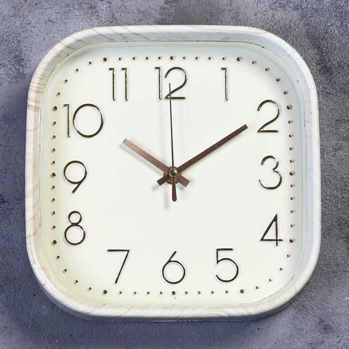 """Часы настенные, серия: Классика, """"Джеси"""", дискретный ход, 22 х 22 см, d=20 см - фото 8443468"""