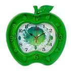 Часы настенные кухонные в форме Яблока, на циферблате рисунок яблоко, микс, 26*27см