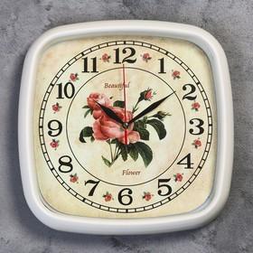 """Часы настенные, серия: Цветы, """"Фортуна"""", 30х30 см"""