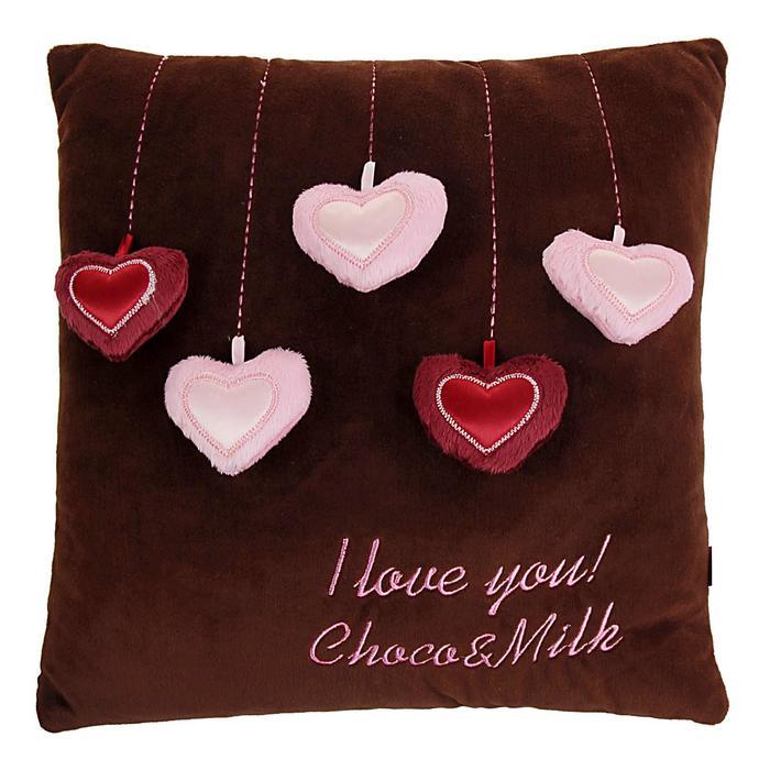Мягкая игрушка-подушка Choco «Сердечки», 30 см