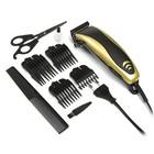 Машинка для стрижки волос LuazON LST-13, 4 уровня стрижки, 15 Вт, золото, 220V