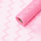 Mesh colors Zigzag, pink, 48cm x 4.5 m