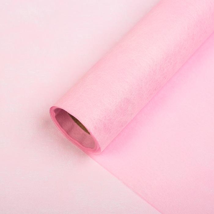 Фетр ламинированный металлизированный, розовый, 60 см х 5 м
