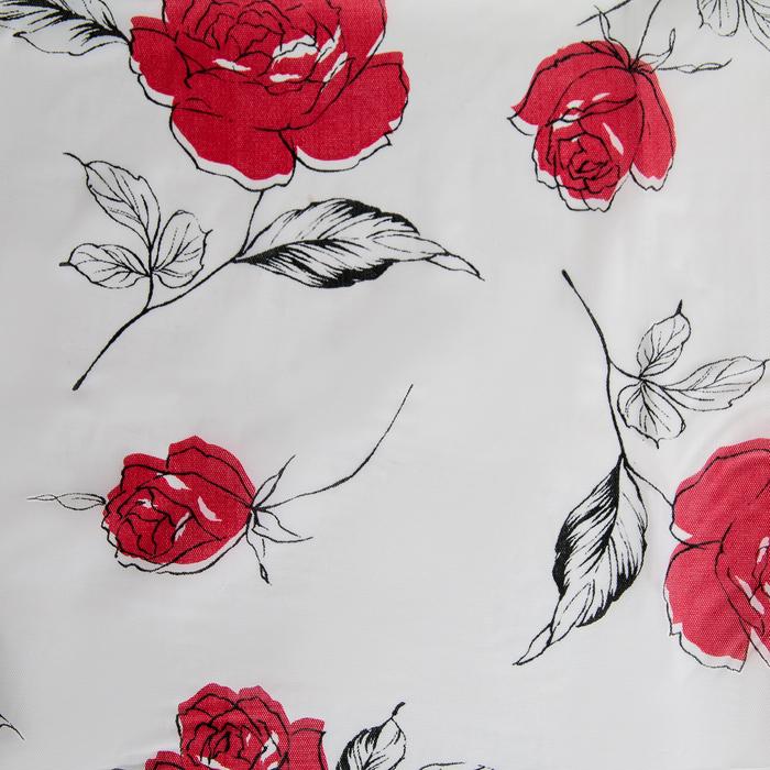 """Штора для ванной 180×180 см """"Пышные розы"""", PEVA"""