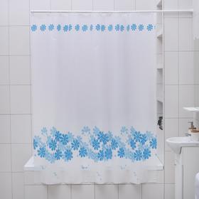 Штора для ванной комнаты Доляна «Ромашки», 180×180 см, PEVA - фото 4654614