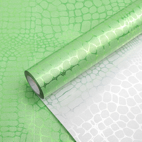 """Film with sequined """"Python"""", green, 0,5 x 10 m"""