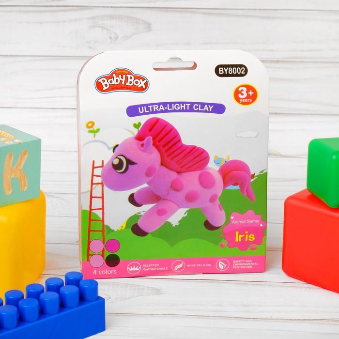"""Набор для создания игрушки из массы для лепки """"Пони"""", масса 4 банки по 10 гр"""