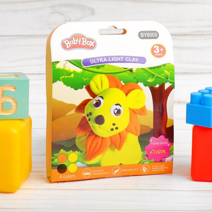 """Набор для создания игрушки из массы для лепки """"Львенок"""", масса 4 банки по 10 гр"""