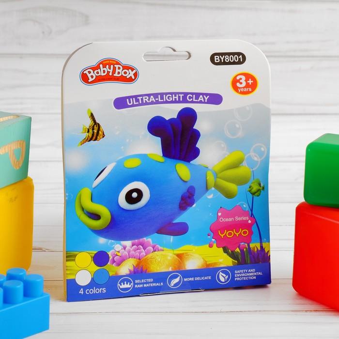 """Набор для создания игрушки из массы для лепки """"Рыбка"""", масса 4 банки по 10 гр"""