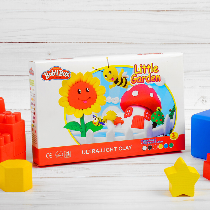 """Набор для создания игрушек из массы для лепки """"Сказочный сад"""", масса 6 банок по 16 г,3 стека"""