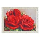 """Гобеленовая картина """"Розы красные"""" 53*73 см рамка микс"""