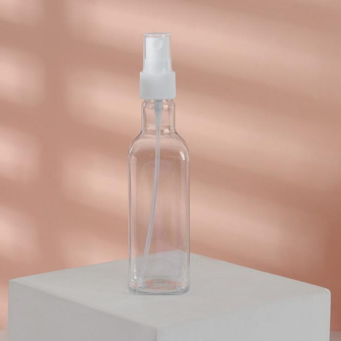 Бутылочка для хранения с распылителем, 145мл, цвет розовый