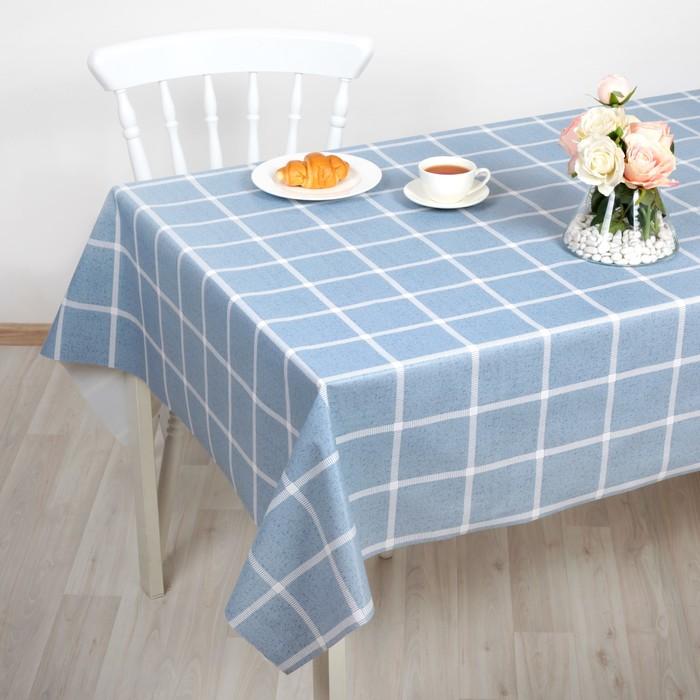 Клеёнка столовая на тканевой основе, ширина 137 см, толщина 0,3 мм, рулон 20 метров
