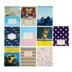Тетрадь 12 листoв клетка Super-Mix-2, обложка мелованный картон, 10 видов микс