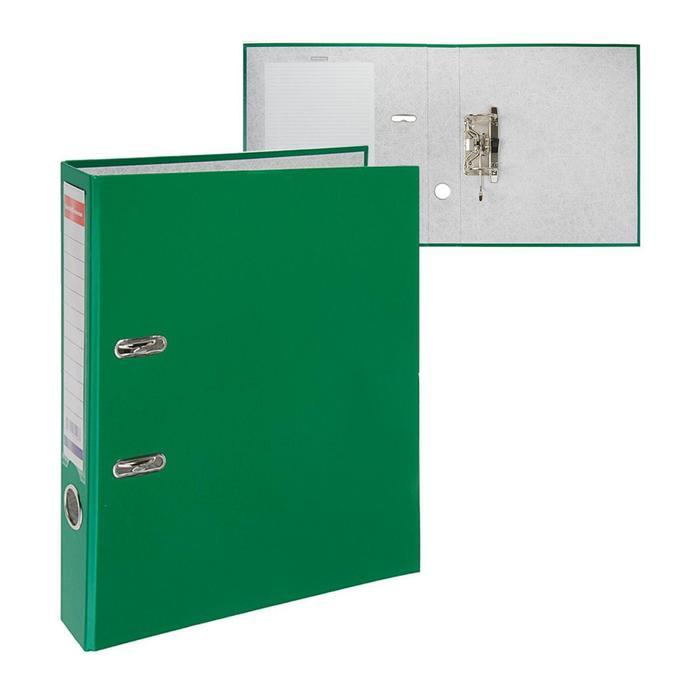 Папка-регистратор А4, 50 мм, Granite, собранный, зелёный, пластиковый карман, картон 1.75 мм, вместимость 350 листов - фото 418336069