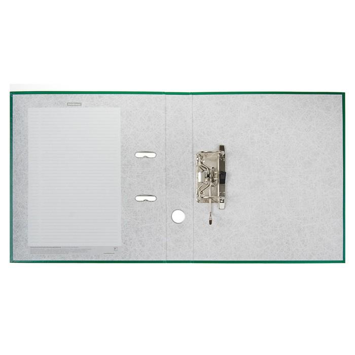 Папка-регистратор А4, 50 мм, Granite, собранный, зелёный, пластиковый карман, картон 1.75 мм, вместимость 350 листов - фото 418336070
