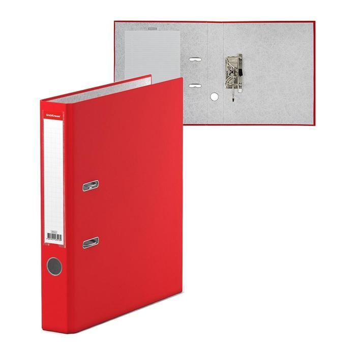 Папка-регистратор А4, 50 мм, Granite, собранный, красный, пластиковый карман, картон 1.75 мм, вместимость 350 листов - фото 284532232
