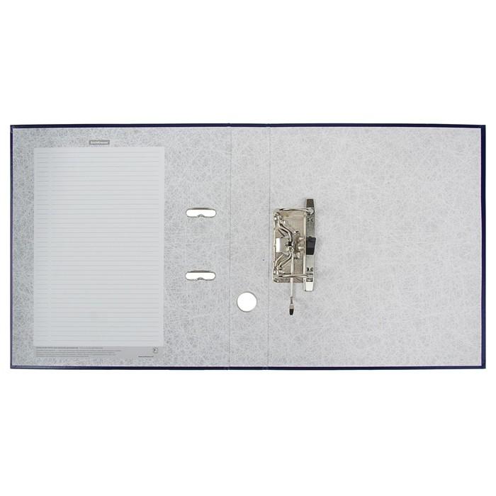 Папка-регистратор А4, 50 мм, Granite, собранный, синий, пластиковый карман, картон 1.75 мм, вместимость 350 листов - фото 408708726
