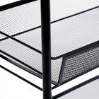 Этажерка «Ладья 2», 3 яруса, 44×25×69,5 см, цвет чёрный - фото 4643259