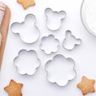 """Набор форм для вырезания печенья 7х13 см """"Мишка,цветок"""", 6 шт - фото 162778071"""