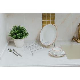 Сушилка для посуды Доляна, 32×14,5×14 см, цвет хром