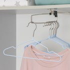 Вешалка-плечики для одежды детская с антискользящим покрытием, размер 30-34, цвет синий - фото 8443571
