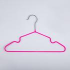 Вешалка-плечики для одежды детская с антискользящим покрытием, размер 30-34, цвет ярко-розовый - фото 8443581