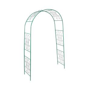 Арка садовая, разборная, 230 × 125 × 50 см, металл, «Классик широкая»