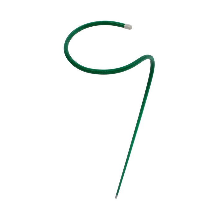 Кустодержатель для цветов, d = 30 см, h = 90 см, ножка d = 1 см, металл, зелёный